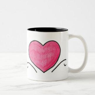 Simple heart Two-Tone coffee mug