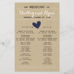 """Simple Heart Wedding Program<br><div class=""""desc"""">Simple wedding program to match Simple Heart Wedding Suite with any color heart accents - simply select your background color.</div>"""