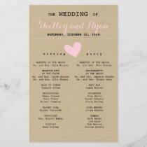 Simple Heart Wedding Program