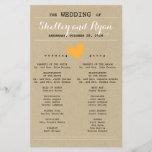 "Simple Heart Wedding Program<br><div class=""desc"">Wedding program to match Simple Heart Wedding Suite with pumpkin accents</div>"