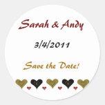 Simple Heart Wedding Stickers
