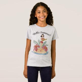 Simple Hello Summer Tropical Beach | Jersey Shirt