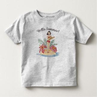 Simple Hello Summer Tropical Beach | Shirt