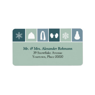 Simple Holiday Icons Address Labels