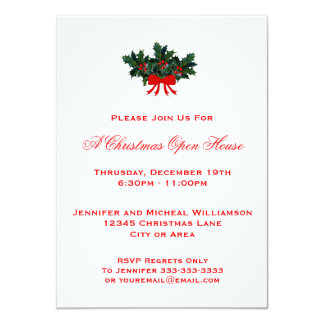 Christmas Open House Invitations | Zazzle