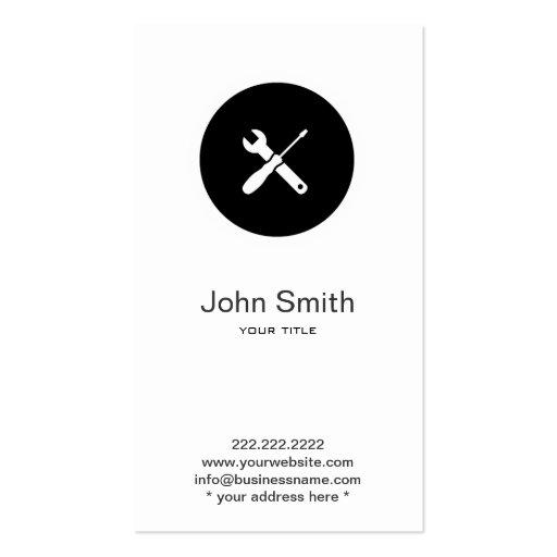 Simple Home Handyman/Plumber Profile Card Business Card Template