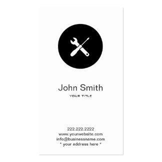 Simple Home Handyman Plumber Profile Card Business Card Template