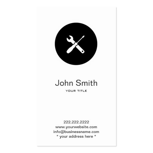Simple Home Handyman/Plumber Profile Card Business Card Template