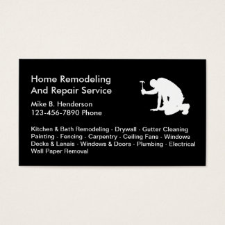 Simple Home Repairs Business Cards