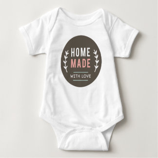 Simple Homemade With Love Baby Bodysuit