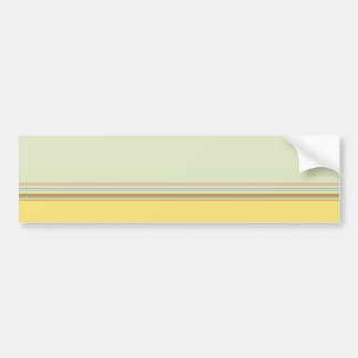 Simple Horizontal Striped - Yellow and Green Car Bumper Sticker