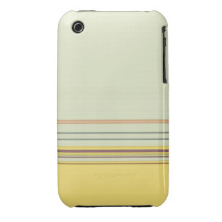 Simple Horizontal Striped - Yellow and Green iPhone 3 Covers