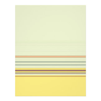 Simple Horizontal Striped - Yellow and Green Flyer Design