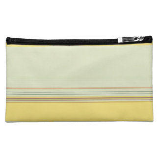 Simple Horizontal Striped - Yellow and Green Makeup Bag