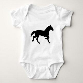 simple horse baby bodysuit