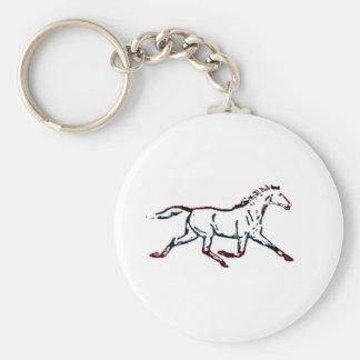 Simple Horse Basic Round Button Keychain