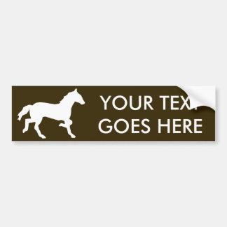 simple horse car bumper sticker