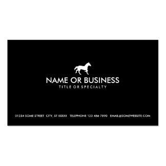 simple horse Double-Sided standard business cards (Pack of 100)