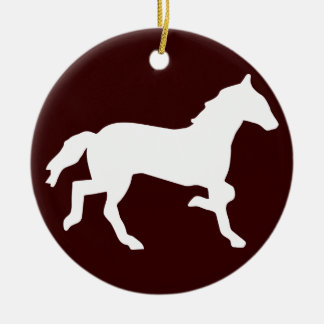 simple horse ceramic ornament