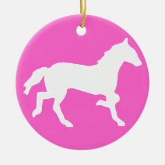 simple horse ceramic ornament