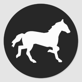 simple horse classic round sticker