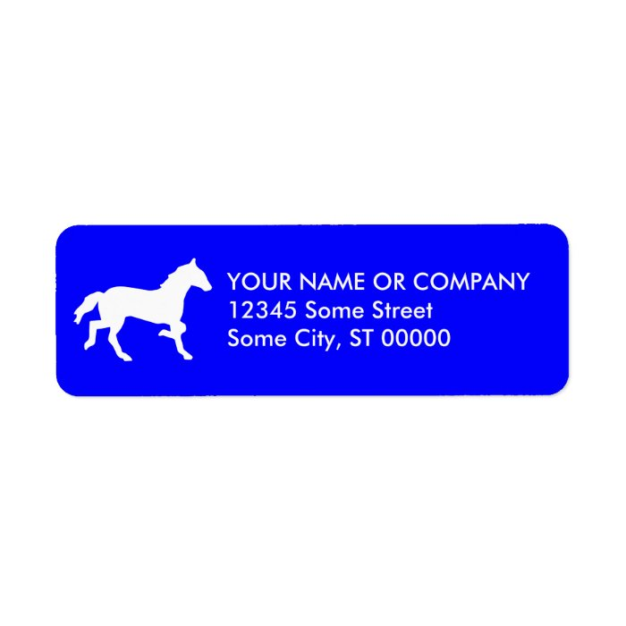 simple horse label