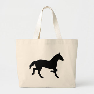 simple horse large tote bag