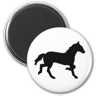 simple horse 2 inch round magnet