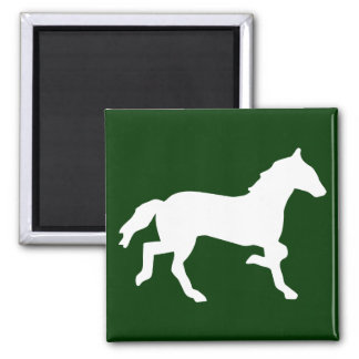 simple horse 2 inch square magnet