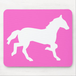 simple horse mouse pad