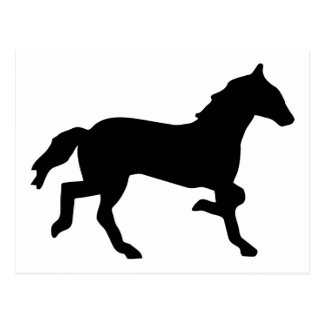 simple horse postcard