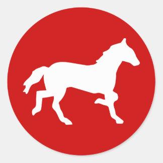 simple horse classic round sticker
