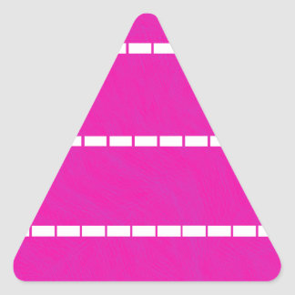 Simple Hot Pink and White Dotted Lines Abstract Triangle Stickers