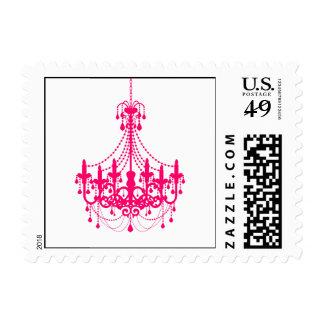 Simple Hot Pink Chandelier Invitation Postage