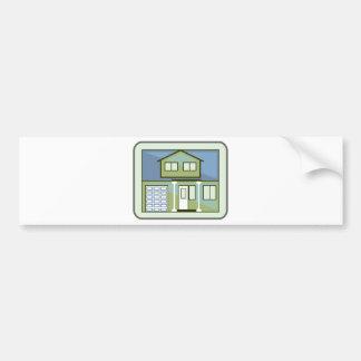 Simple House Bumper Sticker