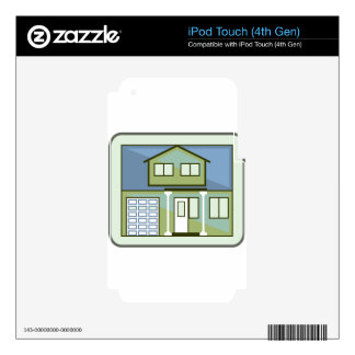 Simple House iPod Touch 4G Decal