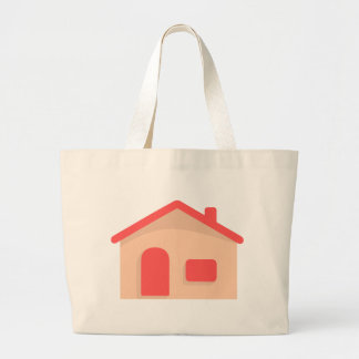 Simple House Large Tote Bag