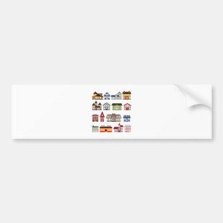 Simple Houses Car Bumper Sticker