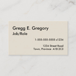 Simple, Humble, and Mini Business Card