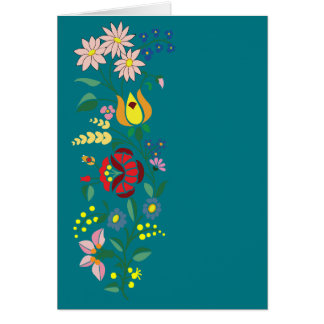 Simple Hungarian folk motifs Card