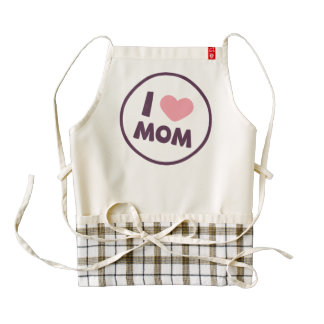 Simple I Love Mom Mother's Day | HEART Apron
