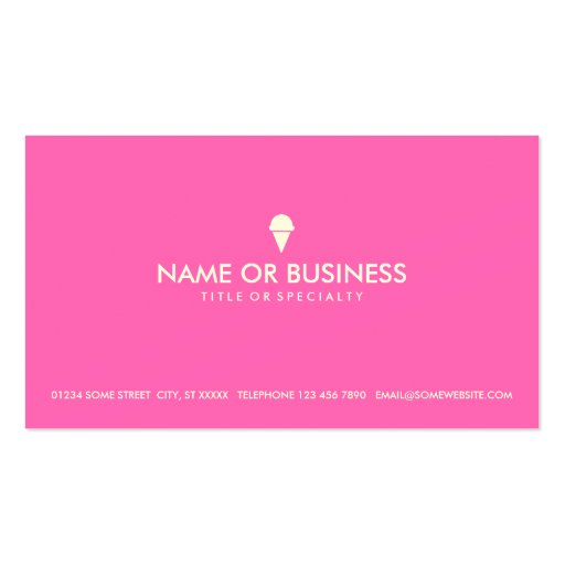 simple ice cream business cards