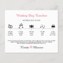Simple Icons Wedding Timeline