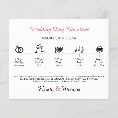Simple Icons Wedding Timeline