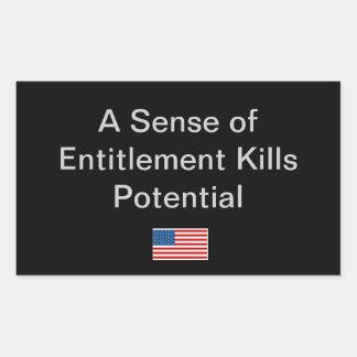 Simple Idea for the Political Season Rectangular Sticker