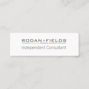 Rodan and fields business cards templates zazzle simple independent consultant business cards colourmoves