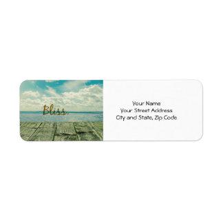 Simple Inspiration Beach Bliss Return Address Labels