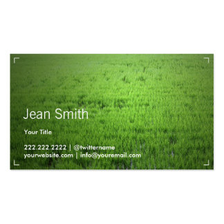 Simple Inspiration Green Rice Field Business Card