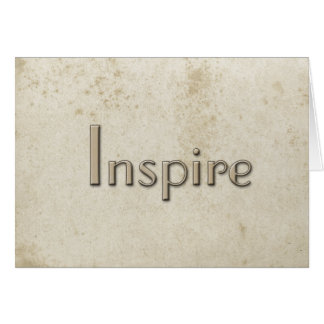Simple Inspire Vintage Stained Paper Stationery Note Card