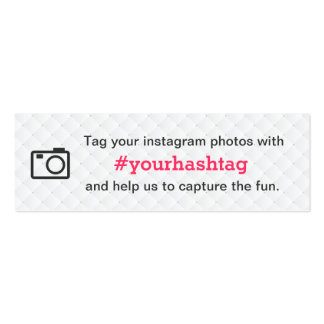 Simple Instagram Wedding Photo Hashtag Insert Card Business Card Template